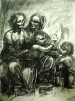 Leonardo da Vinci's Charcoal Rendition by EmberRabbit
