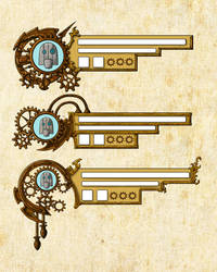 Steampunk HUD Design