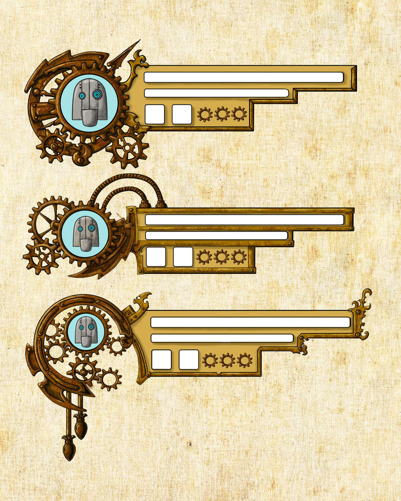 Steampunk HUD Design by EmberRabbit