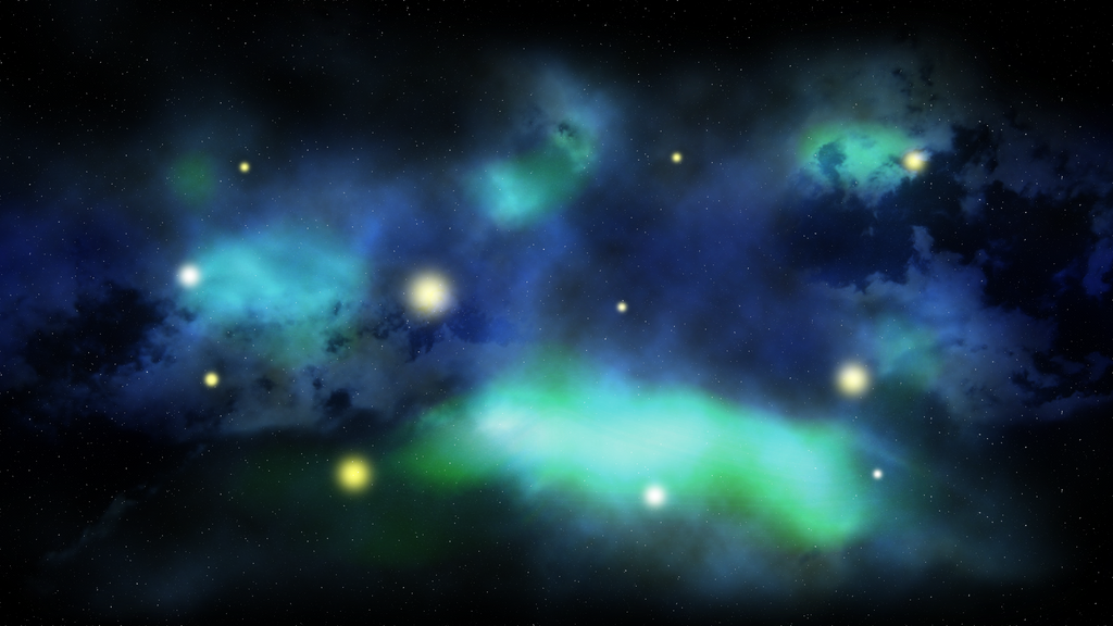 Greenish Galaxy by Amanveth