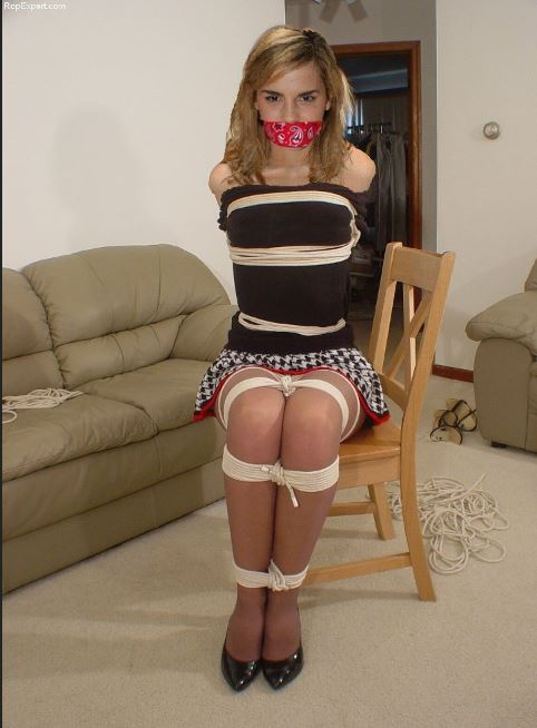 College Girl Tied Up - Babes-9676