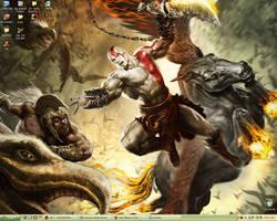 God of War Desktop by laurbear