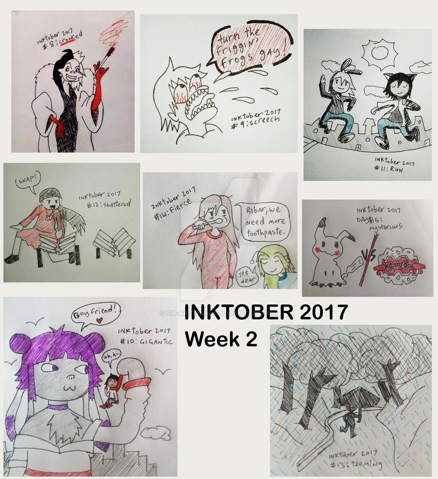 Inktober 2017 Week 2 by Sm-ArtThings