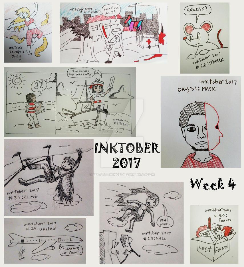 Inktober 2017 Week 4 by Sm-ArtThings