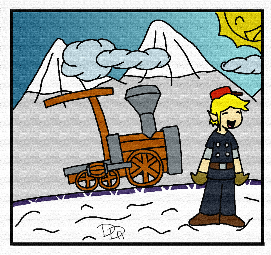 Snow Train [OLD ART] by Sm-ArtThings