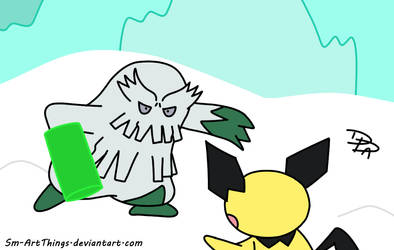 Boss Battle - Fighting Abomasnow by Sm-ArtThings