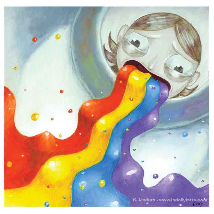 rainbow vomit by kamladolly