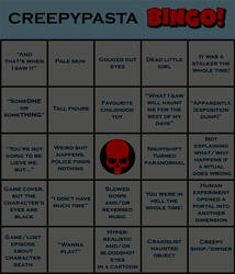 Creepypasta Bingo by kevintheradioguy