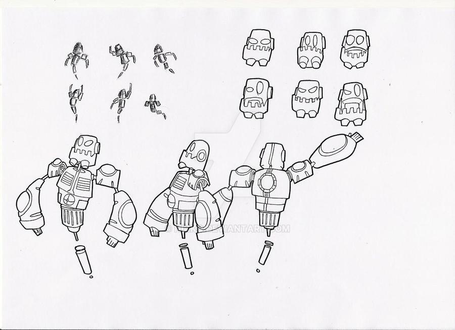 Evil Robot Character Design By Nikkq On Deviantart