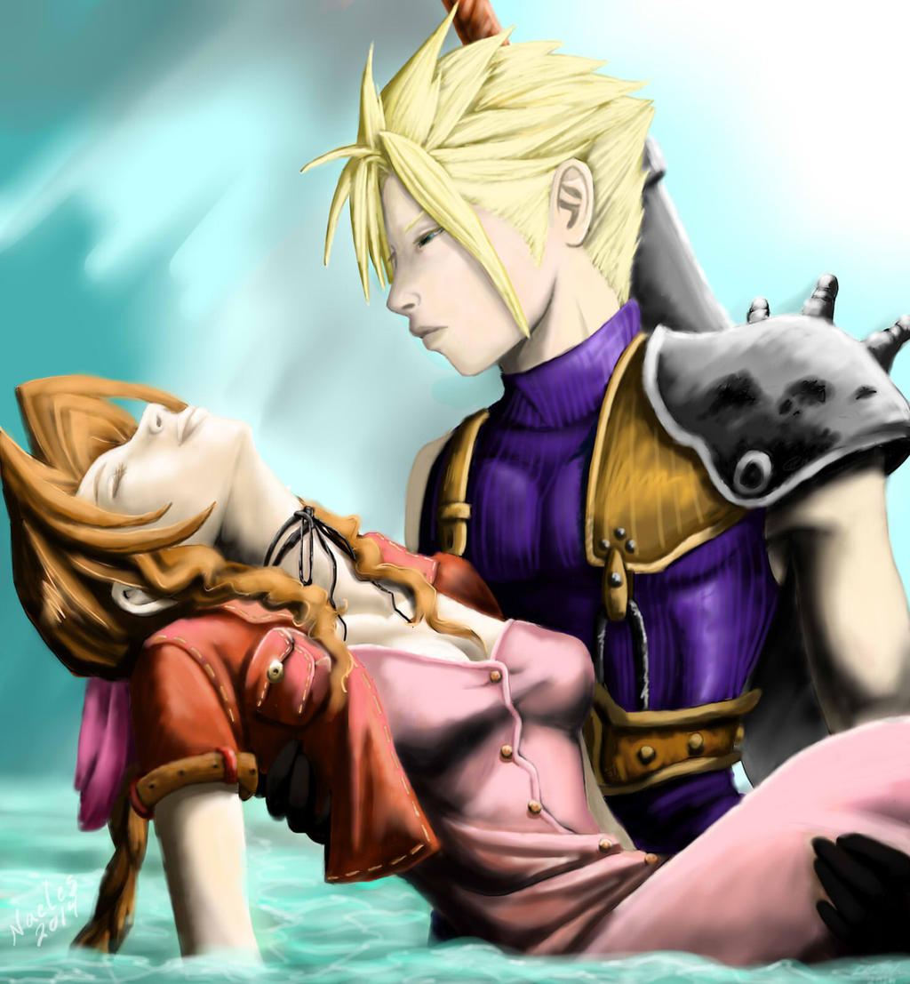 FF7 Cloud and Aerith by Naeles