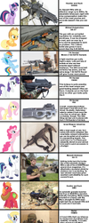 If the Mane Six (And More) went Gun Shopping... by VectoredThrust
