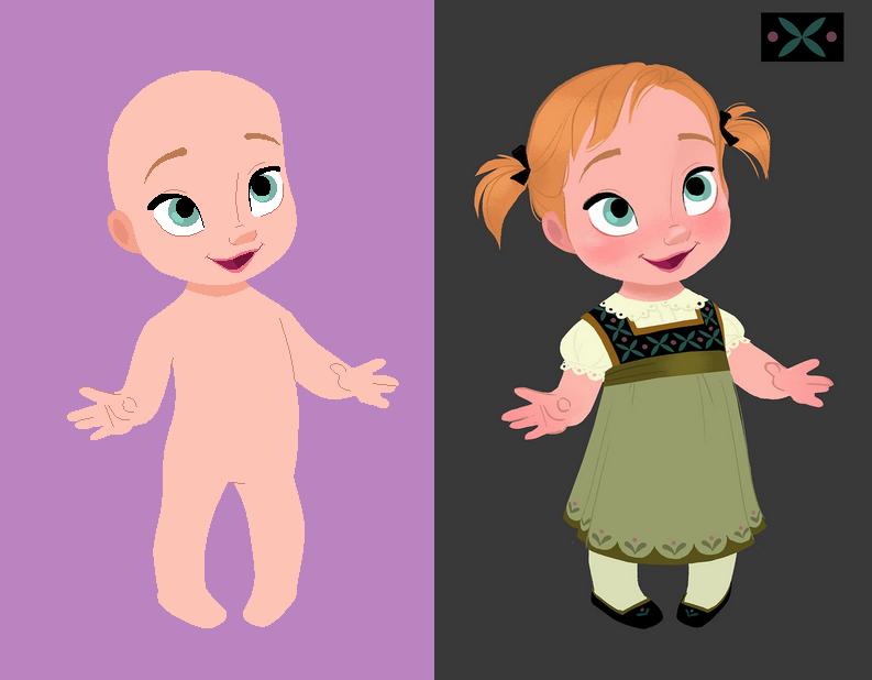 Litte Chubby Baby Anna Base by Raygirlbases