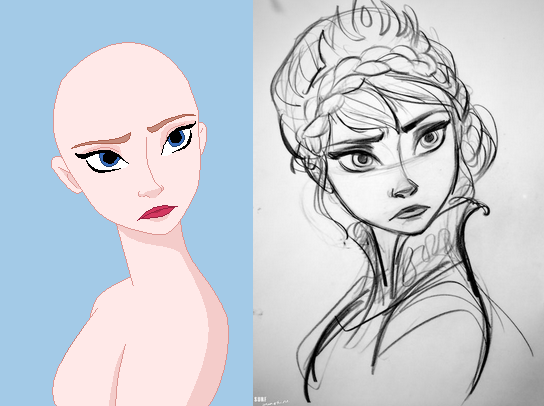 Another Elsa base by Raygirlbases on DeviantArt