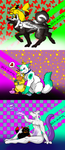 Canine OCs with Detective Pikachu pokemon cast by Villiawenn