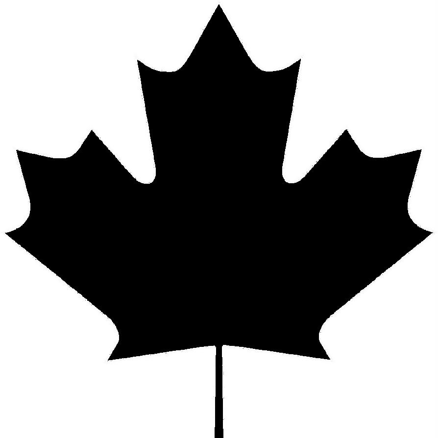 Maple leaf shaped frame