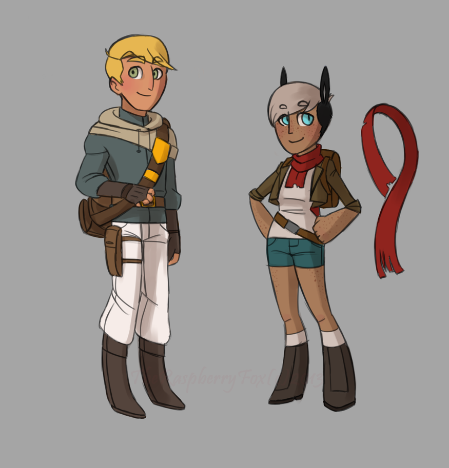 The Courier and The Adventurer by TheRaspberryFox