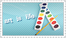 art stamp by fallie