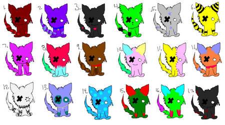 Plush Cat Point Adoptables -Read Description- by PointsandPremium