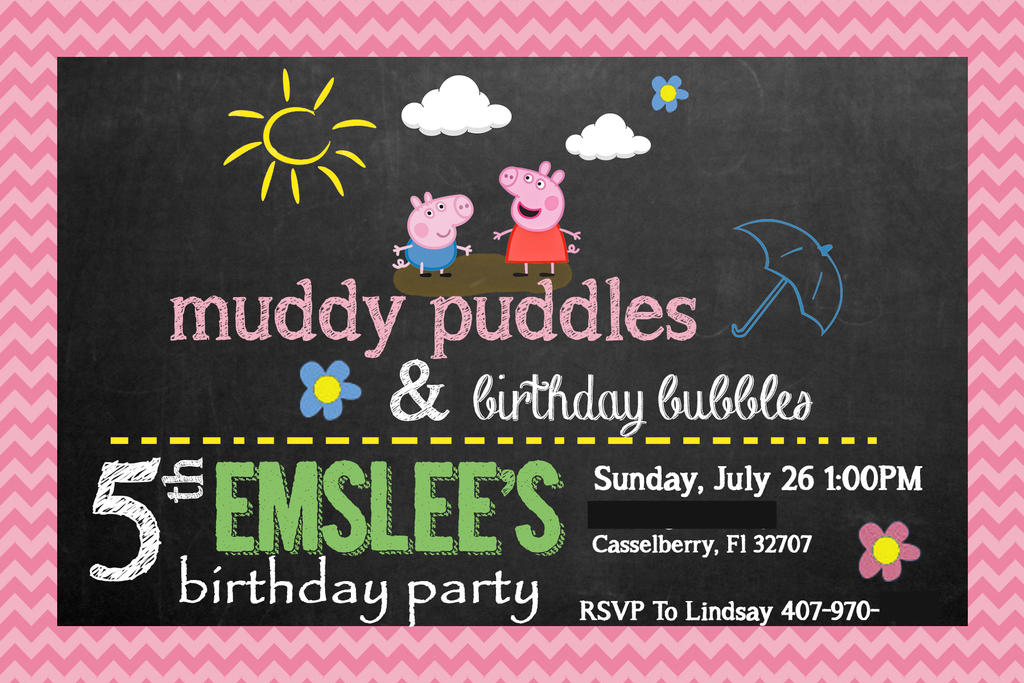 Peppa Pig Birthday Party Invite Girl by jdpanton on DeviantArt