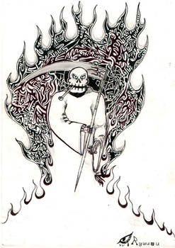 Grim Reaper with Tribal-Flames