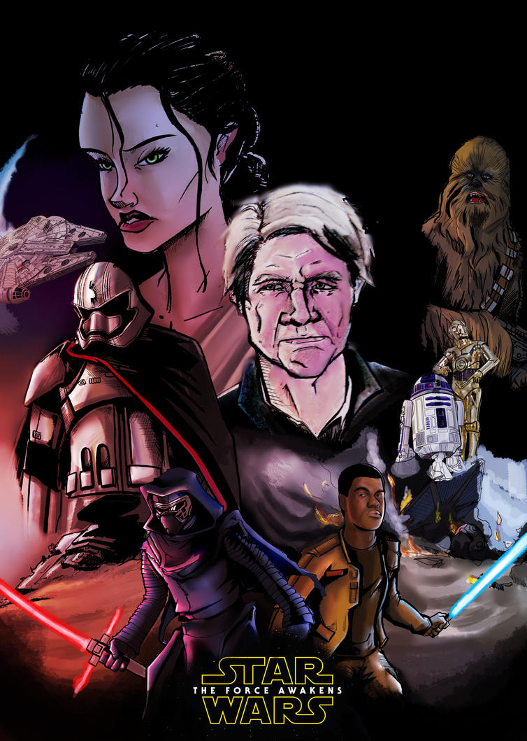 WIP The Force awakens Poster by Feryu93