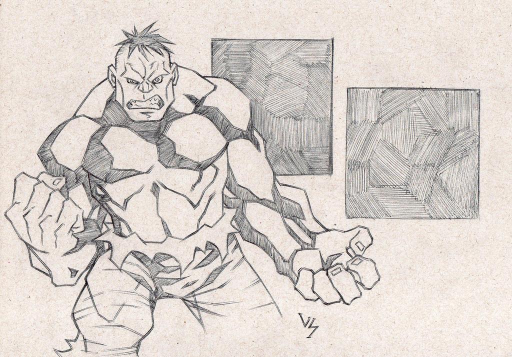 Hulk sketch by Bruno-Varanda