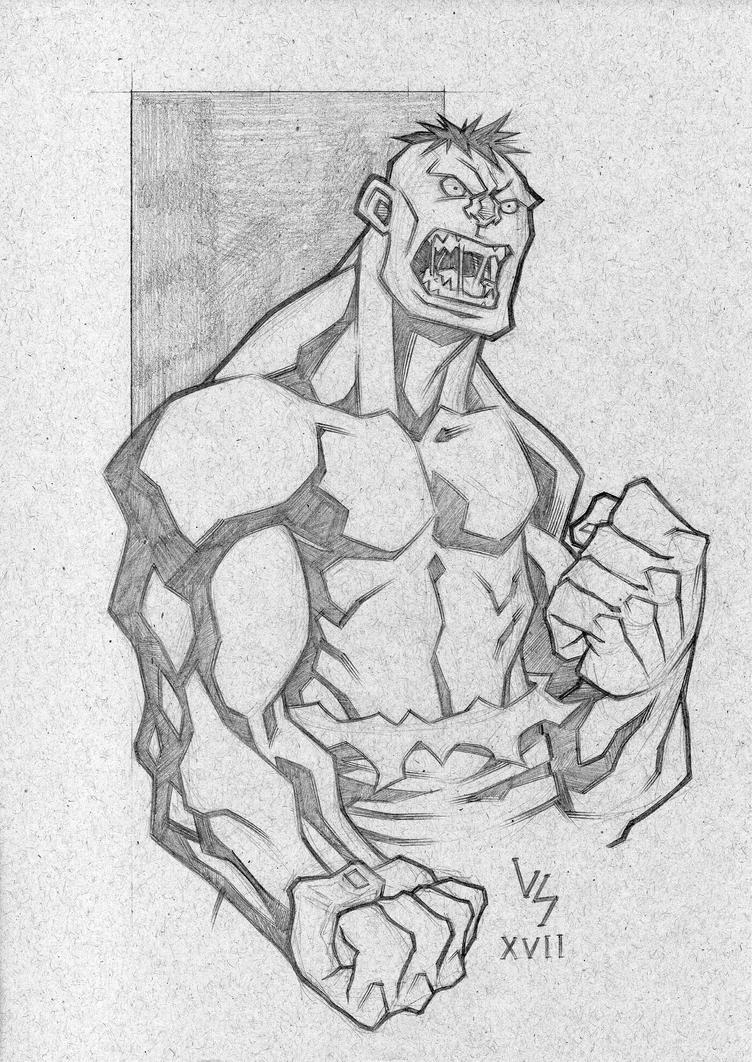 Another Hulk Sketch... by Bruno-Varanda