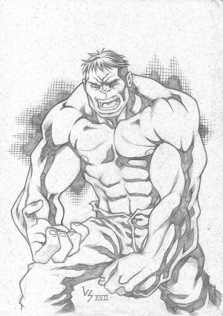 The Incredible Hulk sketch by Bruno-Varanda