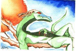Reclining Dragon by enygmari