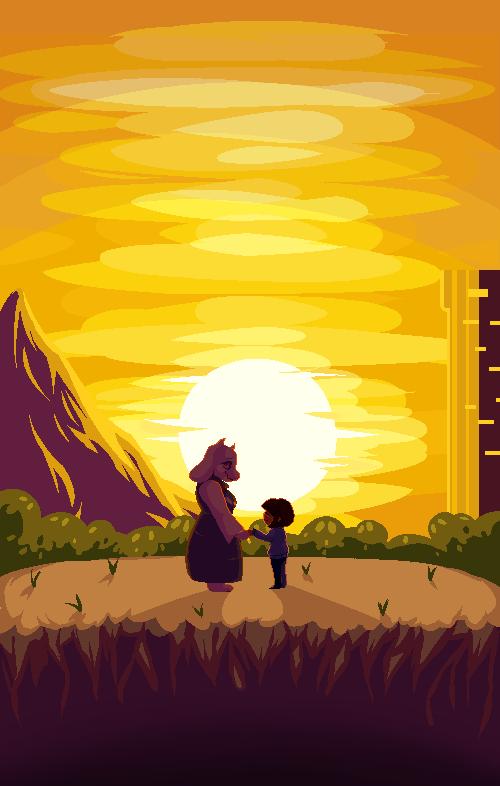 {Undertale - Pixel Art} The Setting Sun by Endeth