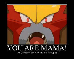 What Entei says goes.