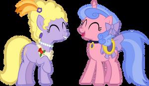 MLP - FiM: Lyrica and Violet by chir-miru