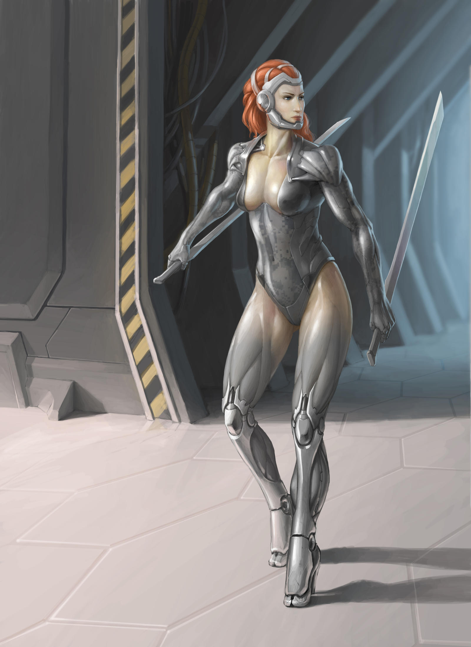Character concept - Cyber Assassin by Machay
