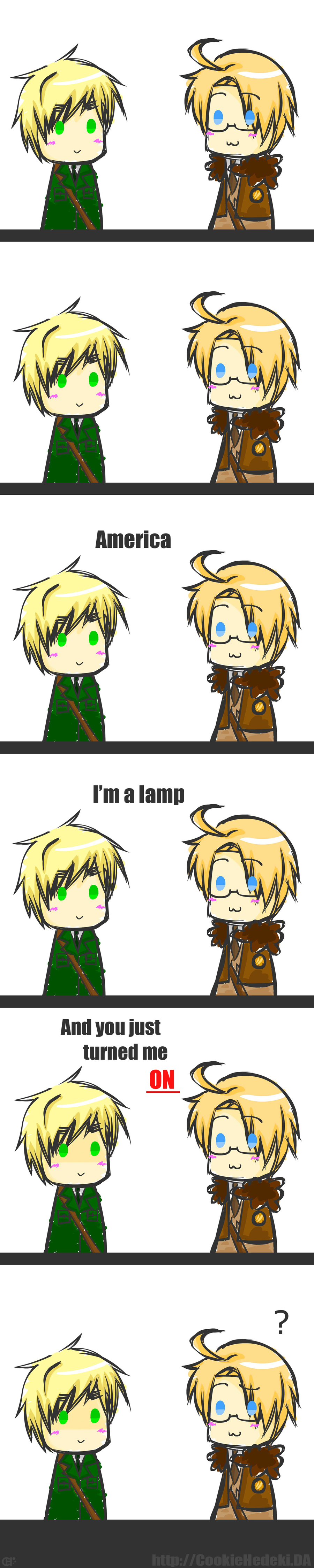 I'm a lamp C: by CookieHedeki
