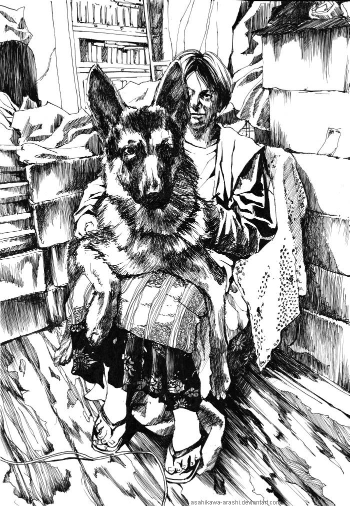 My mom and my dog by asahikawa-arashi