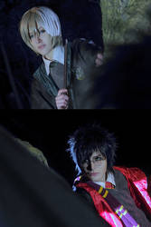 Harry Potter and Draco Malfoy by asahikawa-arashi