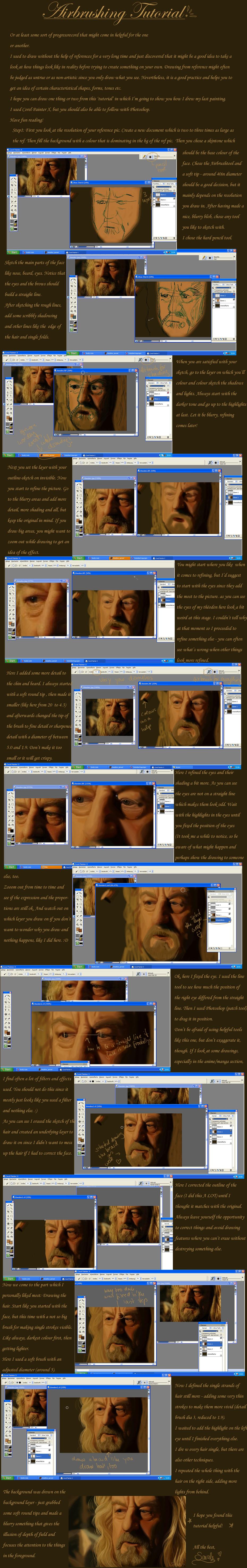 Airbrushing tutorial Corel+PS by fraeuleinwunder