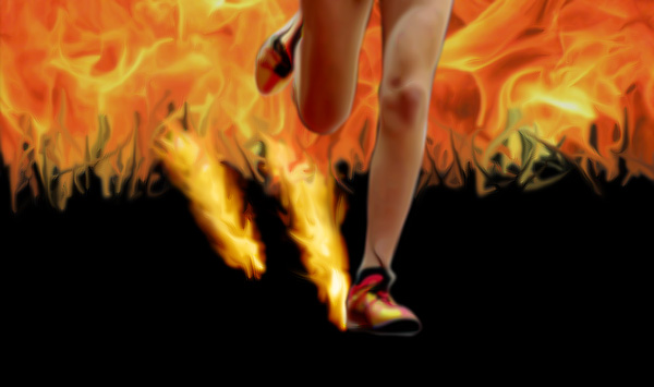 running through fire by Jed029