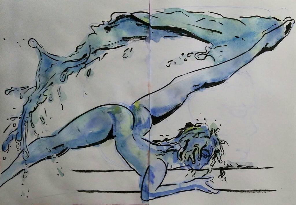 Water Elemental - sketch by Diego-Araujo-Artwork