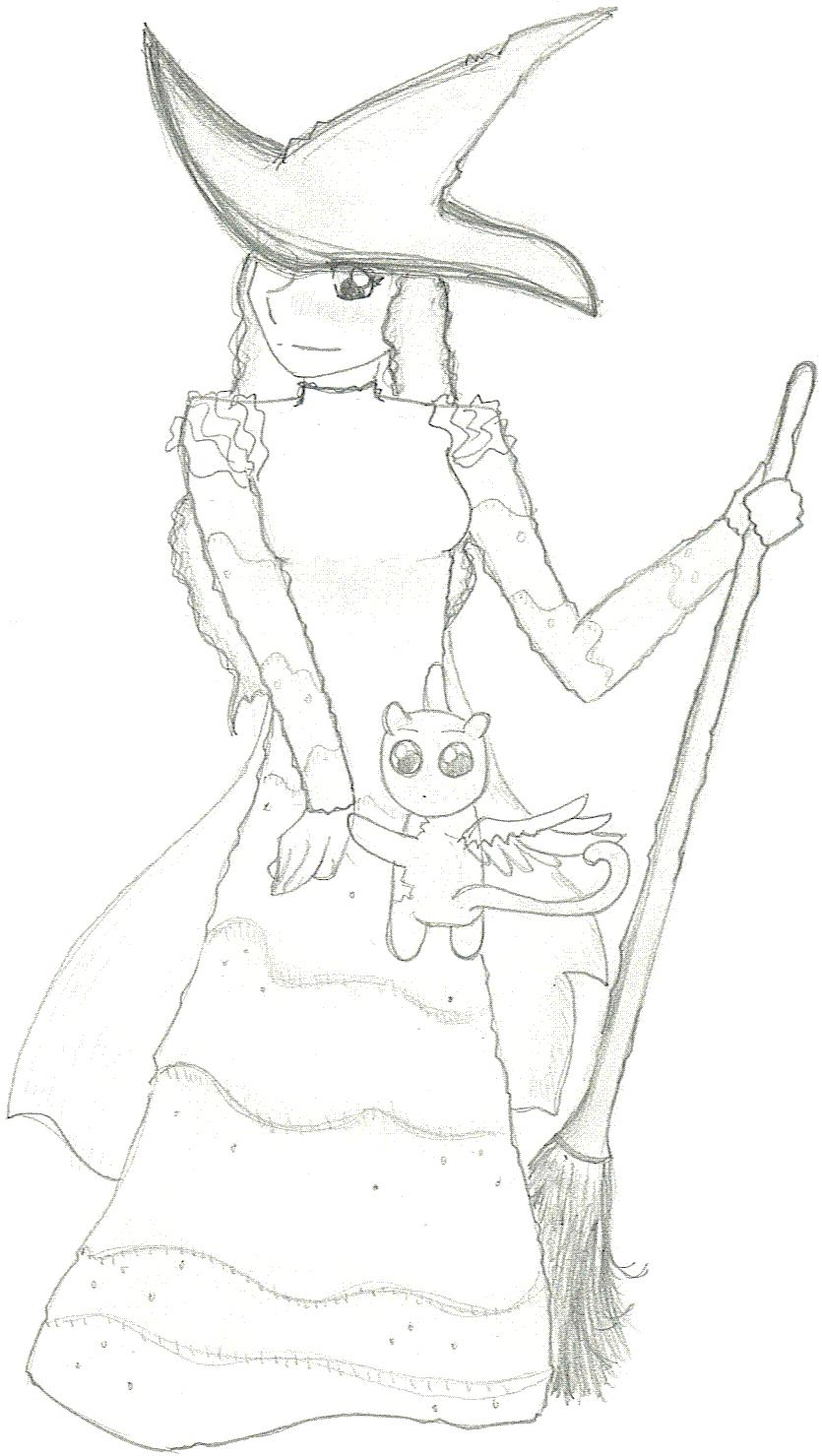 wicked witch of the west coloring pages - wicked elphaba by randomanimenerd on deviantart