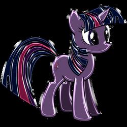 Twilight Sparkle Chrome by DuskBrony