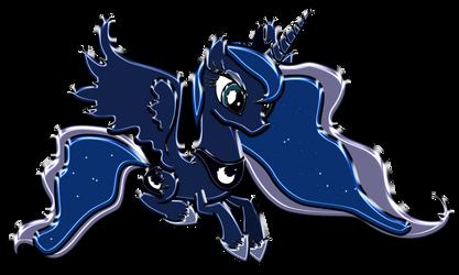 Princess Luna Chrome by DuskBrony