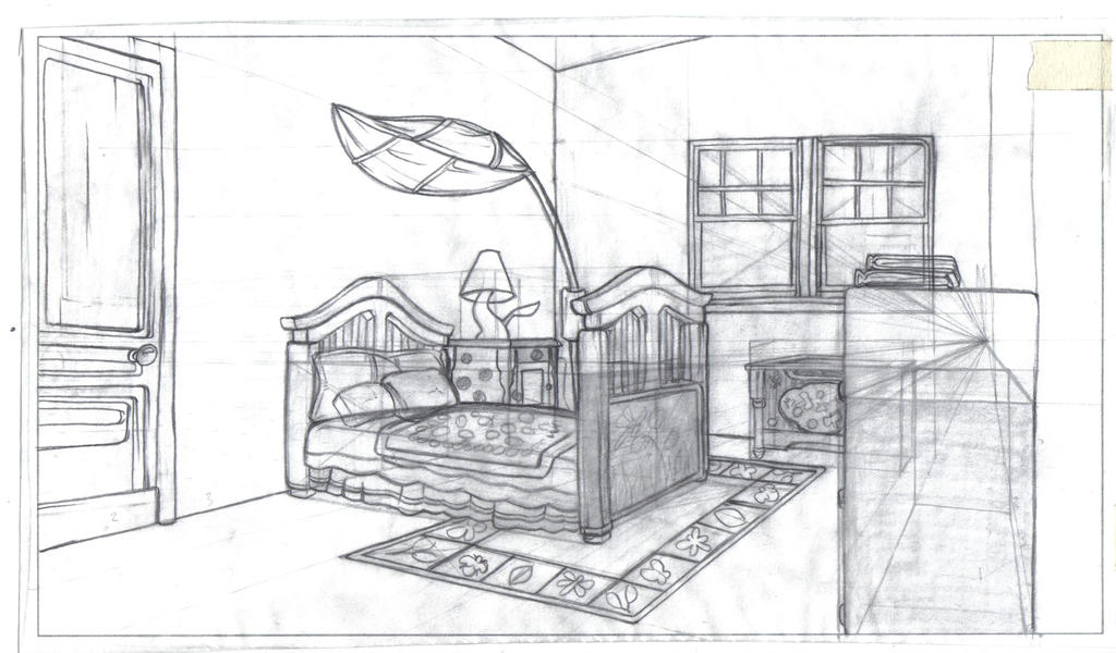 Bug themed bedroom sketch by kryodrache on deviantart for Bug themed bedroom ideas