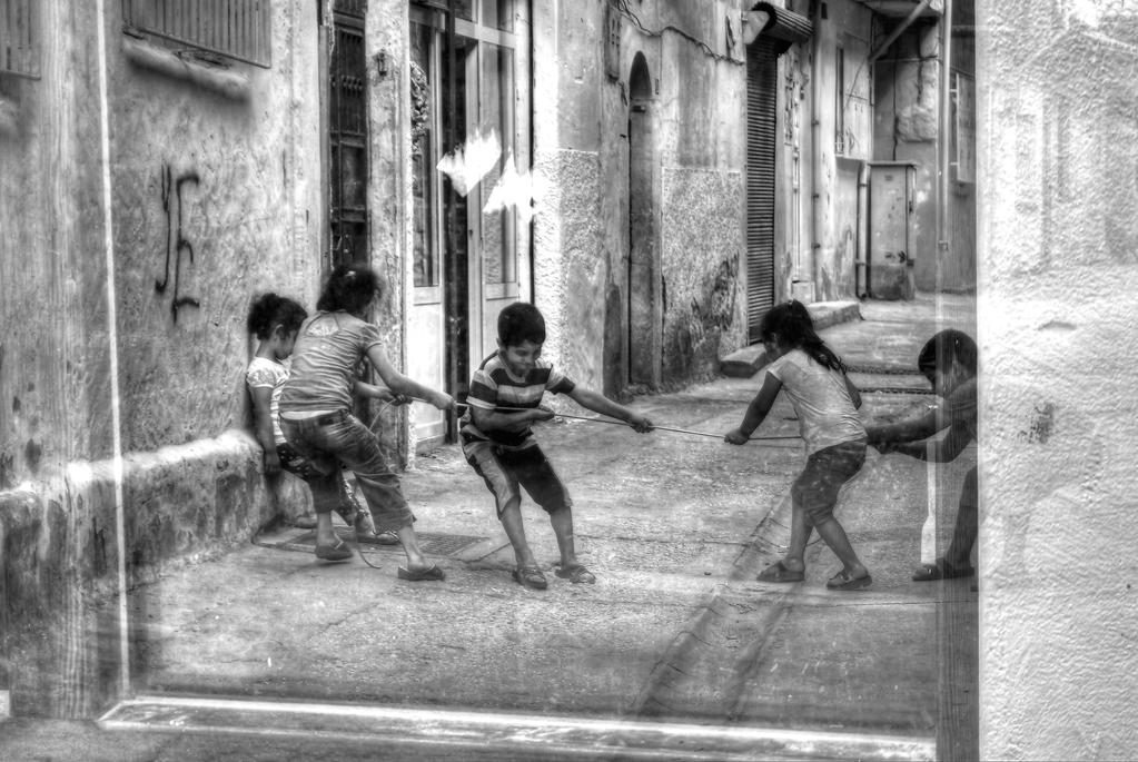Being a child in the back streets by Silpius