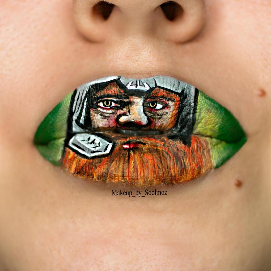 Gimli Lip Art by soolmoz