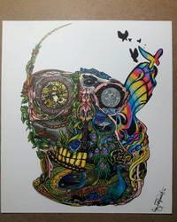 Peacock Skull