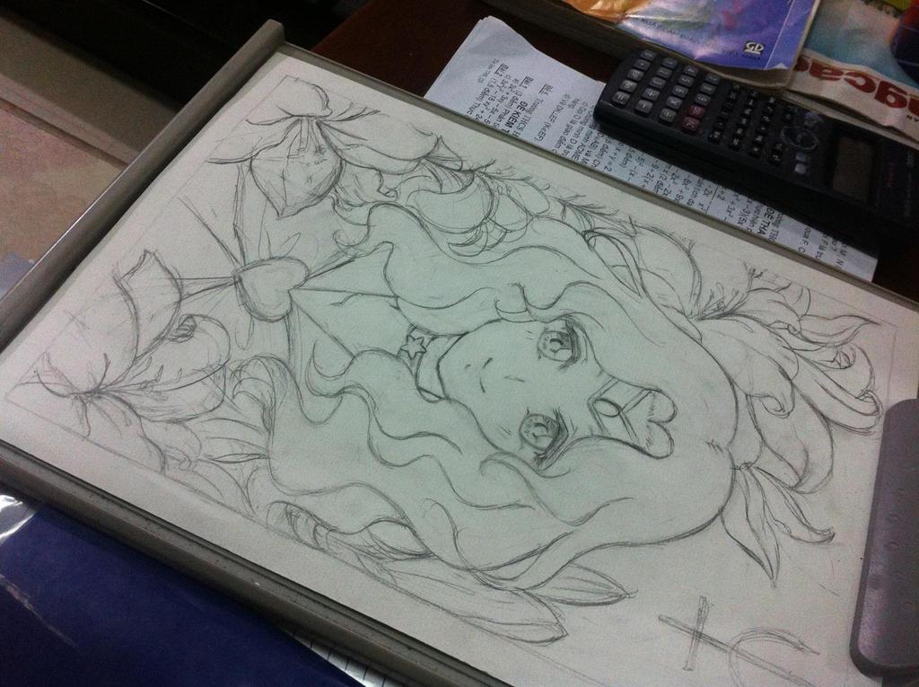[Sketch] Flowers in me - Michiru Kaioh by RinkiYukatari