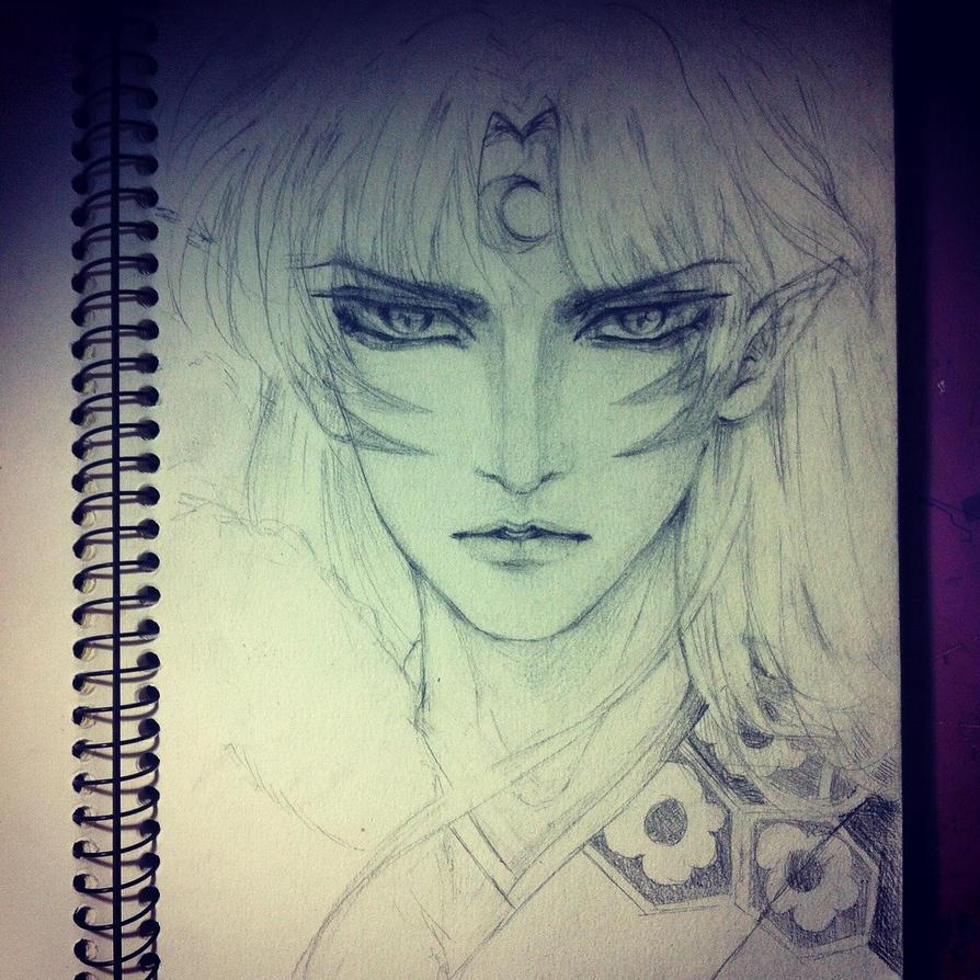 quick sketch Sesshomaru by RinkiYukatari