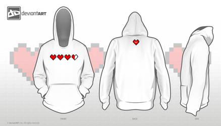 8-Bit Hearts Hoodie by mtzGrafen