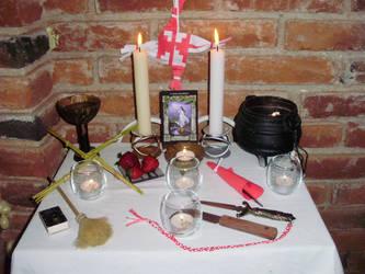 Ophelia's 2013 Imbolc Altar by OpheliaRosenblut